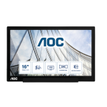 "AOC 01 Series I1601FWUX computer monitor 39,6 cm (15.6"") 1920 x 1080 Pixels Full HD LED Zwart"