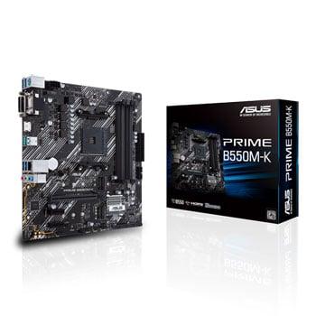 ASUS PRIME B550M-K - Motherboard - micro ATX - Socket AM4 - AMD B550 - USB 3.2 Gen 1, USB 3.2 Gen 2 - Gig