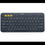 Logitech K380 keyboard Bluetooth QWERTY US English Grey