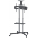 "Manhattan Mobile Monitor Floor Stand, 1 screen, 37-70"", Vesa 200x200 to 600x400mm, Max 50kg, Black"