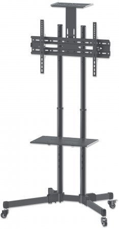 "Manhattan Monitor/LFD Trolley Stand, 1 screen, 37-70"", Vesa 200x200 to 600x400mm, Max 50kg, Black"