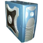 Clio XClio Gamer ATX Midi Case - BLUE w/o PSU Therm & noise reduction (LS)