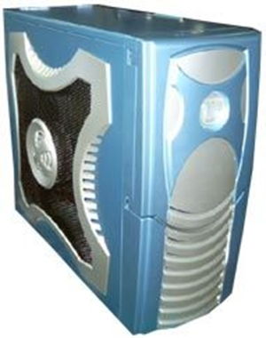 Clio XClio Gamer ATX Midi Case - BLUE w/o PSU Therm & noise reduction (LS)