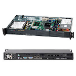 Supermicro CSE-502L-200B server barebone Rack (1U) Black