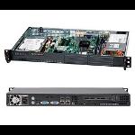 Supermicro CSE-502L-200B server barebone 1U Black