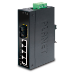 Planet ISW-511T Unmanaged L2 Fast Ethernet (10/100) Black network switch