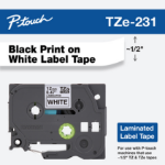 Brother TZE-231 P-Touch Ribbon, 12mm x 8m