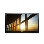 "AOC Style-line I1659FWUX 15.6"" Full HD LCD/TFT Flat Black computer monitor"