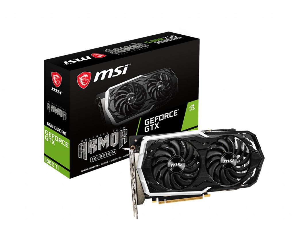 MSI GeForce GTX 1660 Ti ARMOR 6G OC