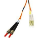 C2G 15m LC/ST Duplex 62.5/125 Multimode Fibre Cable with Clips