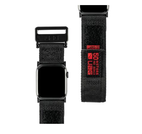 Urban Armor Gear 19149A114040 accesorio de relojes inteligentes Grupo de rock Negro Nylon, Acero inoxidable