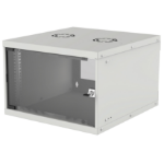 "Intellinet 19"" Basic Wallmount Cabinet, 6U, 400mm Deep, IP20-Rated Housing, Max 50kg, Flatpack, Grey"