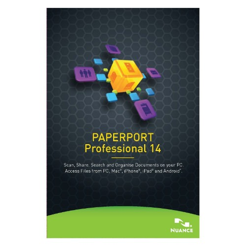 Nuance PaperPort Professional 14, 1001+u, 1y, WIN, MNT, GOV, FRE