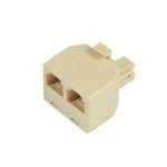 Microconnect RJ11/2xRJ11 M/F network splitter Beige