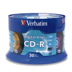 Verbatim Digital Vinyl CD-R™ 80MIN 700MB 52X 50pk Spindle CD-R 700MB 50pcs