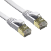 Edimax 1m White 10GbE Shielded CAT7 Network Cable - Flat