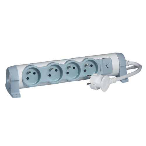 C2G 80816 power extension Indoor 3 m 4 AC outlet(s) Grey,White