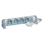 C2G 80816 Indoor 4AC outlet(s) 3m Grey, White power extension
