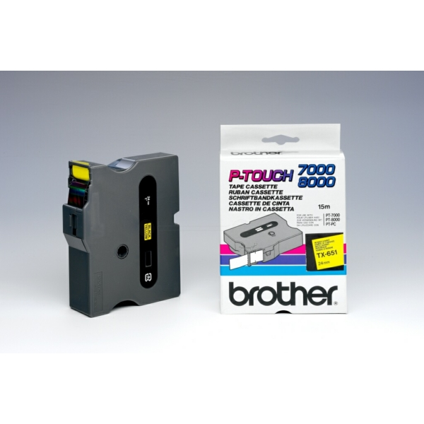 Brother TX-651 P-Touch Ribbon, 24mm x 15m