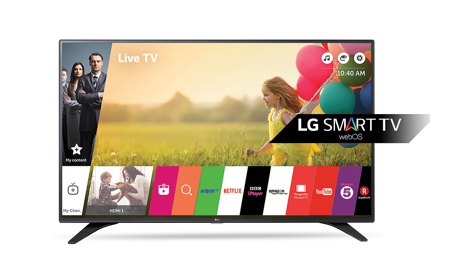 "LG 49LH604V 49"" Full HD Smart TV Wi-Fi Black LED TV"