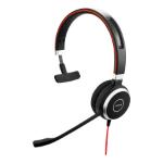 Jabra Evolve 40 MS Mono Headset Hoofdband 3,5mm-connector Zwart