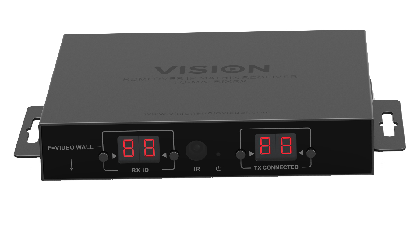 Vision TC-MATRIXRX extensor audio/video Receptor AV Negro