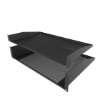 Penn Elcom 2U Vented Rack Shelf Black