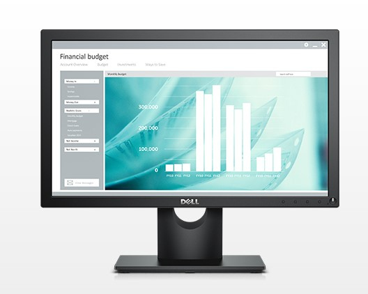 "DELL E Series E1916H 47 cm (18.5"") 1366 x 768 pixels HD LED Black"