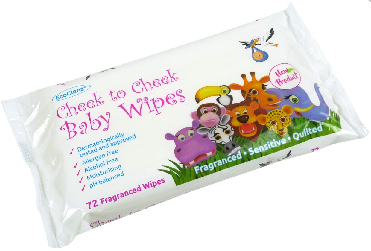 EcoClenz Sensitive Baby Wipes Fragranced Flowpack of 60
