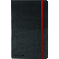 Black n' Red BLK N RED HARD COVER BLACK A4 NOTEBOOK