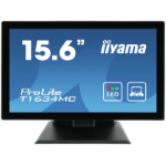 "iiyama ProLite T1634MC-B5X touch screen monitor 39.6 cm (15.6"") 1366 x 768 pixels Black Multi-touch Multi-user"