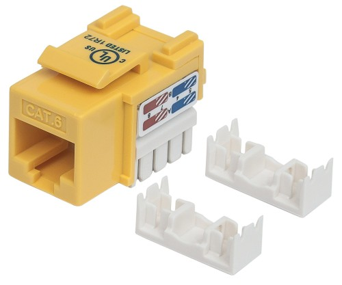 Intellinet Keystone Jack, Cat6, UTP, Punch-down, Yellow