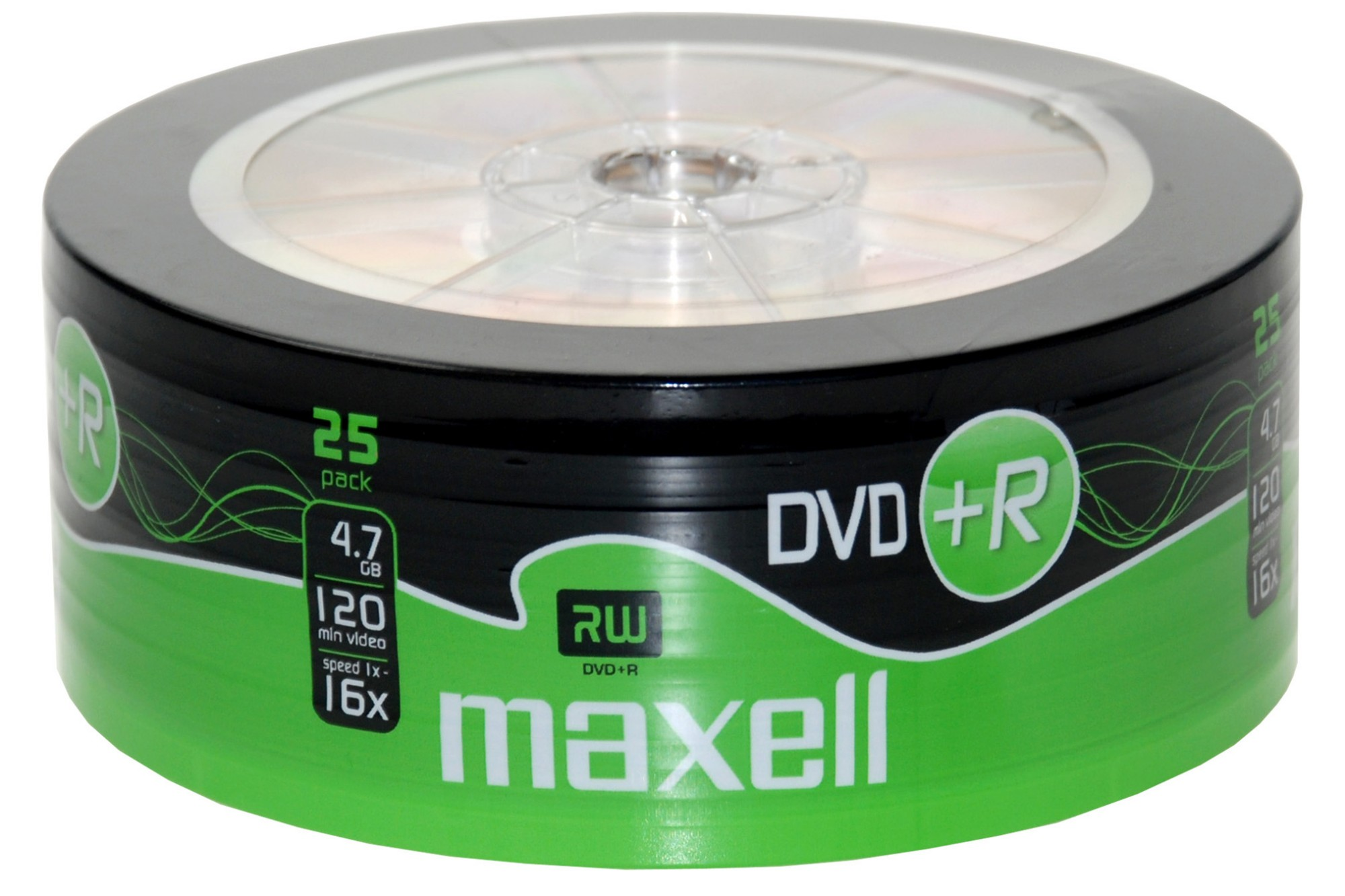 Maxell DVD+R Shrink Wrap (25 Pack)