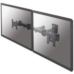 "Newstar TV/Monitor Wall Mount (Full Motion) for TWO 10""-27"" Screens - Black"