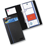 Rexel Optima Business Card Book Black