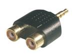 MCL 3.5mm / 2xRCA Adapter Negro