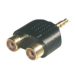 MCL 3.5mm / 2xRCA Adapter Negro