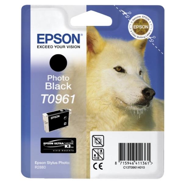 Epson C13T09614020 (T0961) Ink cartridge black, 11ml