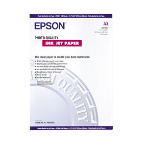 Epson Photo Quality Ink Jet Paper, DIN A3, 102g/m², 100 Sheets C13S041068