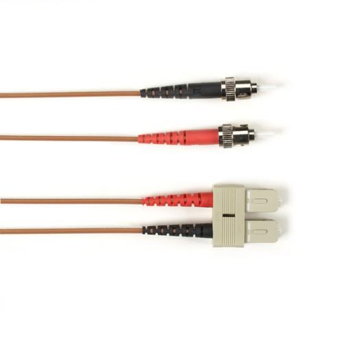 Black Box FOLZH10-001M-STSC-GR fibre optic cable 1 m ST SC LSZH OM3 Grey