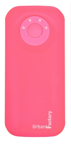 Urban Factory Power Bank Emergency 5600 mAh Flashy Pink