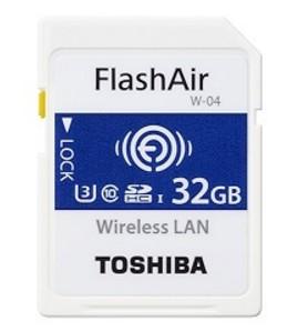 Toshiba FlashAir W-04 memory card 32 GB SDHC Class 3 UHS-I