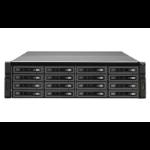 QNAP REXP-1610U-RP disk array 96 TB Rack (3U) Black