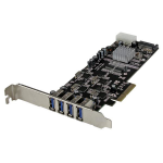 StarTech.com 4-poorts PCI Express (PCIe) SuperSpeed USB 3.0 kaartadapter met 4 speciale 5 Gbps kanalen UASP SATA/LP4-voeding