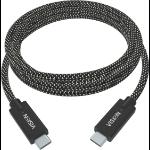 Vision TC-1MUSBC-HQ USB Kabel 1 m USB 3.2 Gen 1 (3.1 Gen 1) USB C Schwarz, Weiß