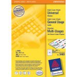 Avery Universal Labels, White 70x29,7mm self-adhesive label 3000 pc(s)