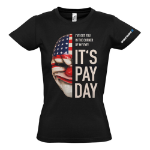 PAYDAY 2 Women's Dallas Mask Extra Large T-Shirt, Black (GE1736XL)