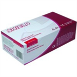 SHIELD LATEX GLOVES M PK100 NAT