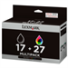 Lexmark 80D2952 (17+27HC) Printhead multi pack, 220 pages, 205 pg + 140 pg, Pack qty 2