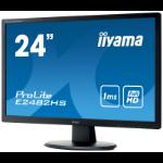 "iiyama ProLite E2482HS-B1 computer monitor 61 cm (24"") Full HD LED Flat Matt Black"